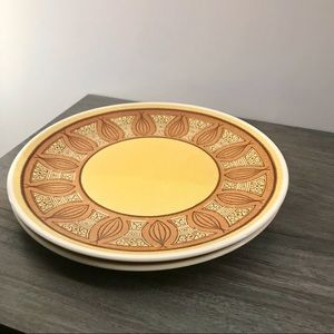 2/30$ 2pc VINTAGE Taylor Ironstone HoneyGold Plate